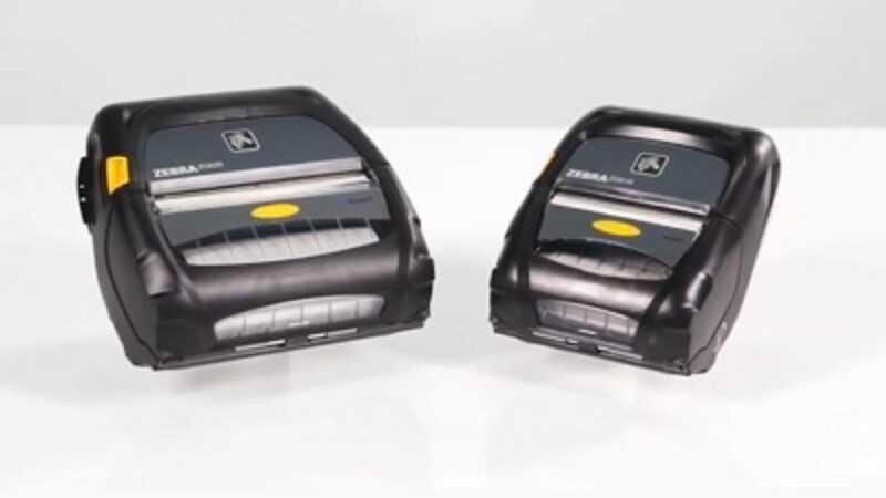 Zebra draagbare printer