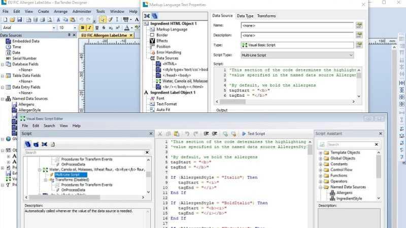 BarTender labeling software