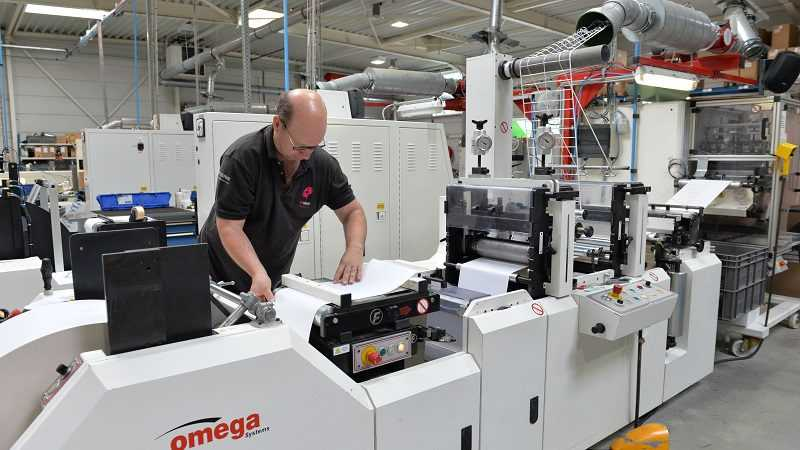 Codipack etiketten productie