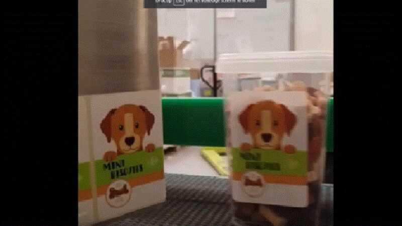 hondensnoep automatisch labelen