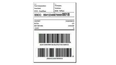 SSCC label Codipack