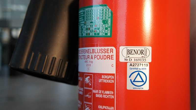 Etiket brandblusapparaat Codipack