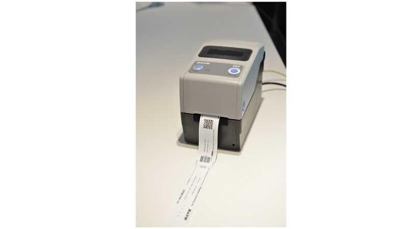printer voor polsbandje ziekenhuis