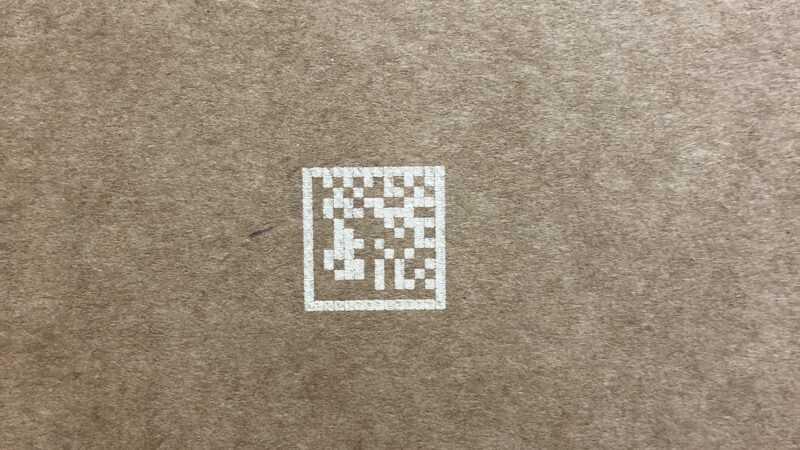 voorbeeld laser op doos