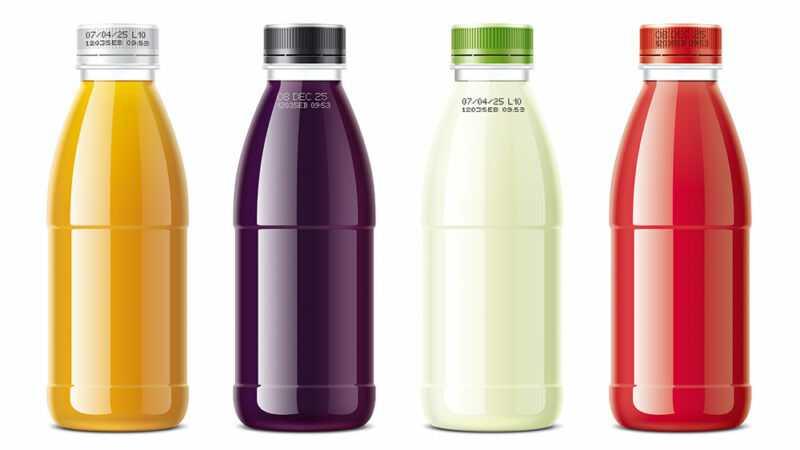 code op PET-flessen