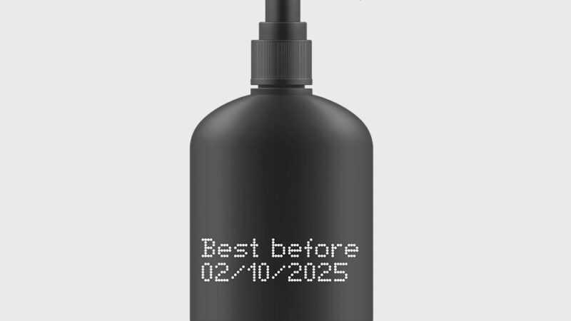plastic fles markeren