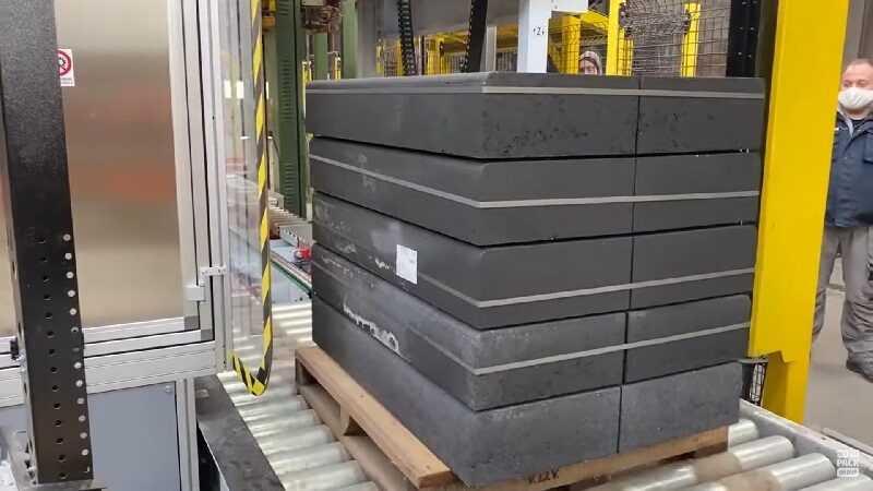pallet labelen in sector bouwmaterialen